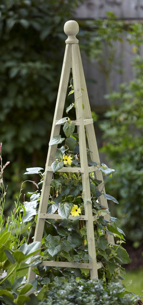 Smart Garden Sage Wooden Obelisk Natural Wood Climbing Plant Support