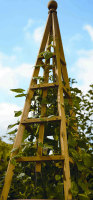 Smart Garden Wooden Garden Obelisk Natural Wood Tan 1.9m