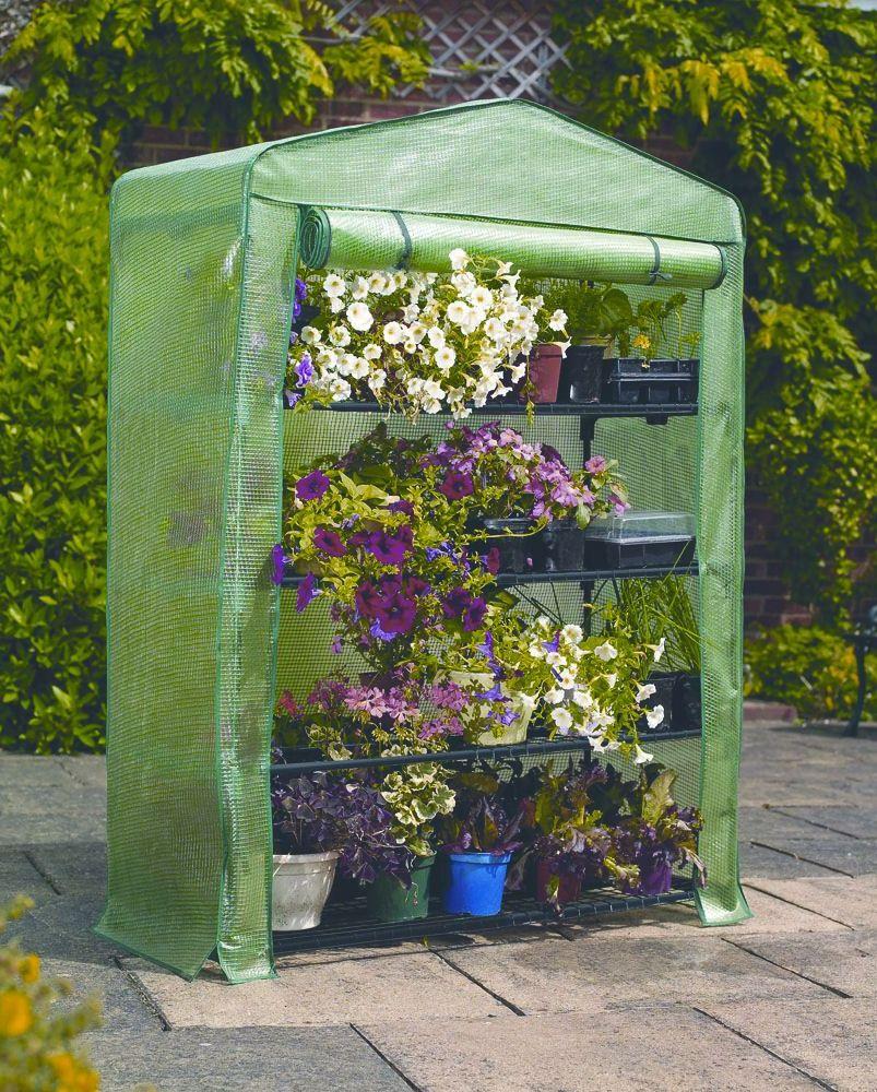 Gardman 4 Tier Extra Wide Mini Greenhouse Growhouse