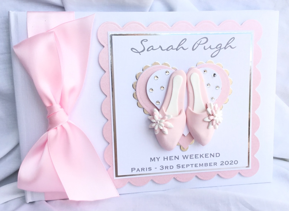 Personalised hen night guest book