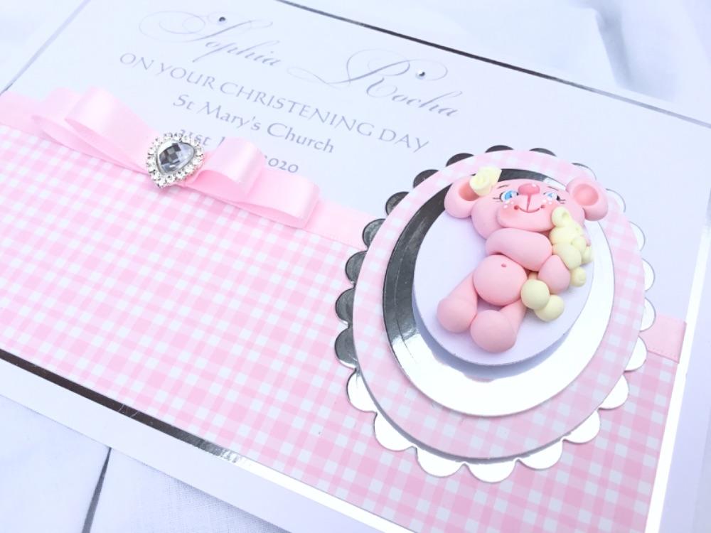 Girls christening/ new baby cards