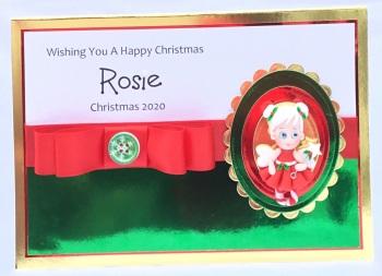 Personalised Christmas girl keepsake card
