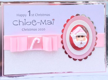 Personalised  Santa Christmas keepsake card