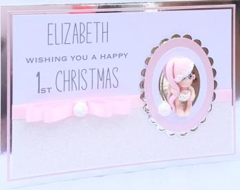 Personalised 1st Christmas keepsake card