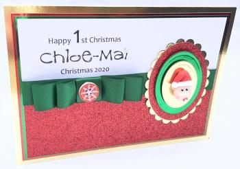 Personalised baby Christmas keepsake card