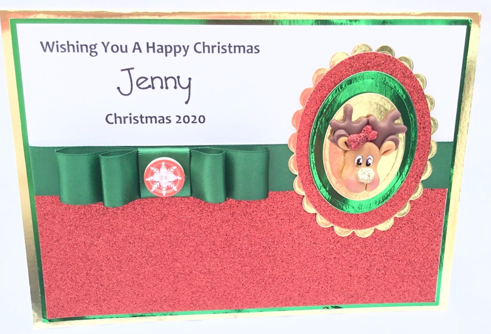 Personalised gingerbread man Christmas keepsake card