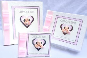 Personalised christening /new baby trio keepsake set