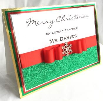 Personalised crystal snowflake Christmas keepsake card
