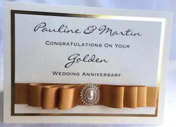 Personalised Golden Wedding Anniversary keepsake Card