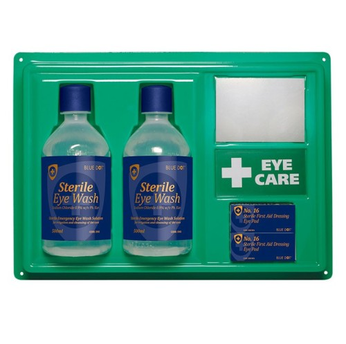 Double Eye Wash Panel with mirror