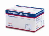 Blue Coverplast plasters 7.2cm x 5cm Pack 100