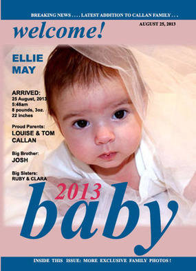 Personalised Baby Magazine Front Cover