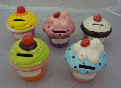 Cup Cake Money Box