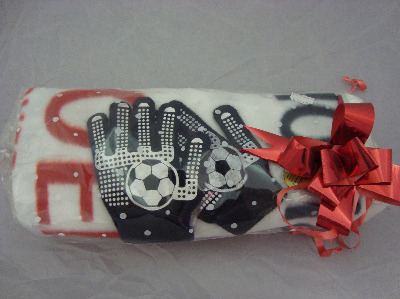 Childrens Football Blanket with Gloves