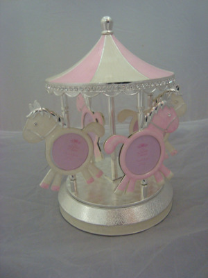 Revolving Musical Carousel Photo Holder
