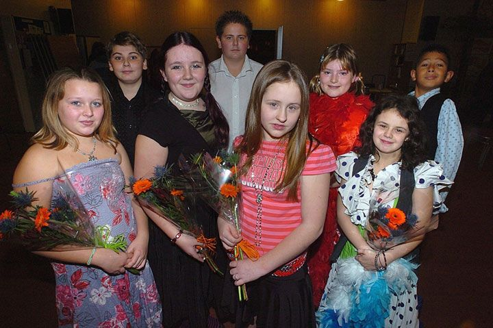 Group of young carers celebrating their Strictly Come Dancing competition, in costume.