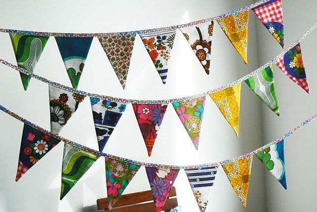 60's style colourful bunting