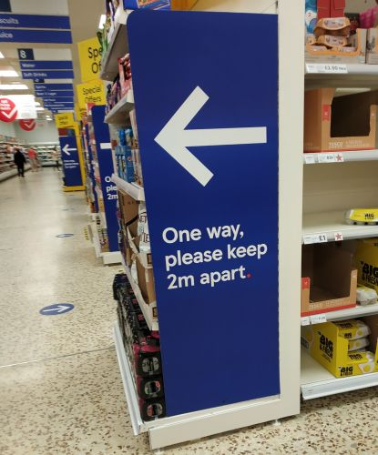 Tesco 2 mtrs sign