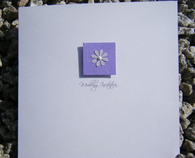 Wedding Stationery- Single Daisy Invite