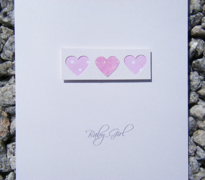 Baby Card - Love Hearts