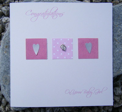 Baby Card - Feet & Hearts
