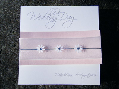 Wedding Card - 3 Daisy Card