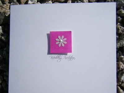 Wedding Invitation - Single Daisy