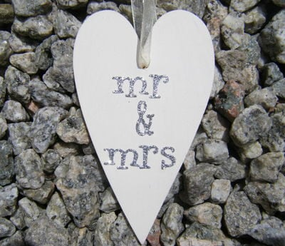 Mr & Mrs Wooden Heart