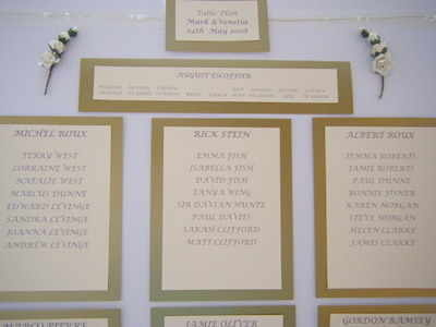 Wedding Table Plan - Cream and Gold