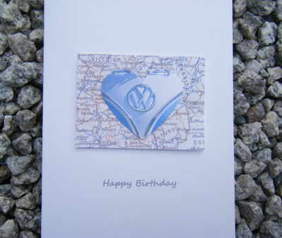Birthday Card - VW Campervan