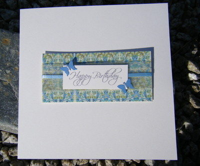 Birthday Card - Vintage Green Butterfly
