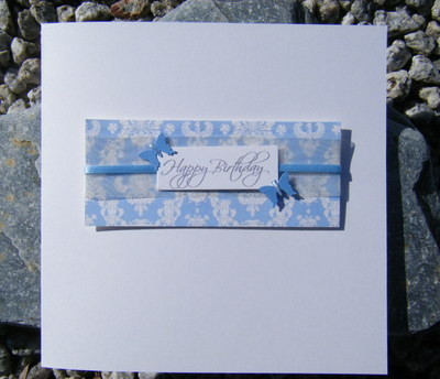 Birthday Card - Vintage China Blue
