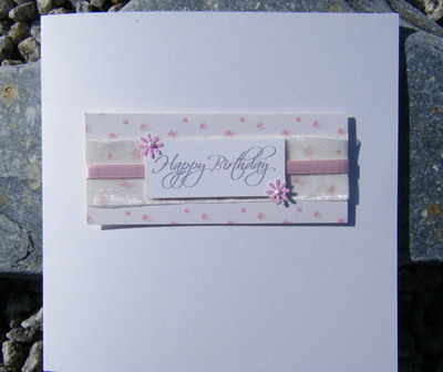 Birthday Card - Vintage Pink Rose