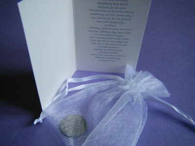 Brides Wedding Lucky Sixpence