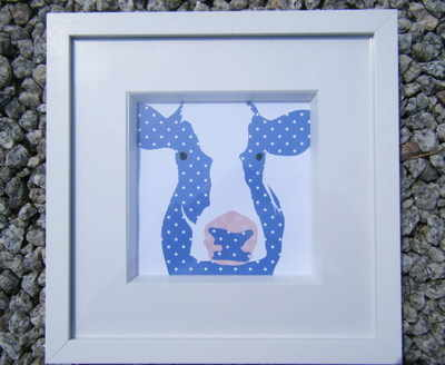 Cow Picture Frame - Close Up
