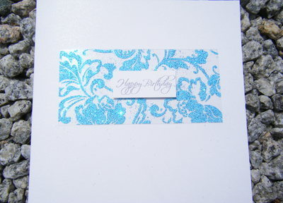 Birthday Card - Blue Sparkle