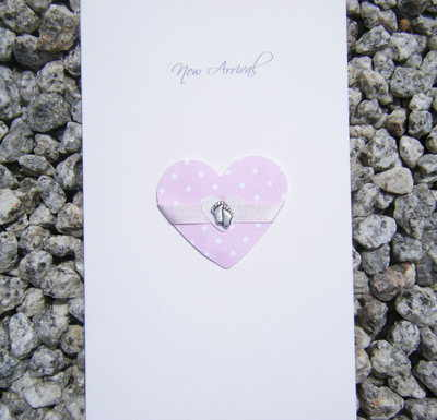 Baby Card - Heart Feet
