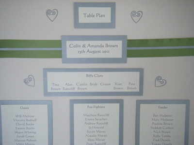Hearts Swirls Table Plan