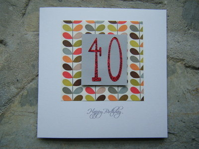 Birthday Age Card - Leaf