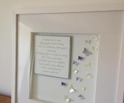 Large Frame - Wedding lyrics or poem with butterflies
