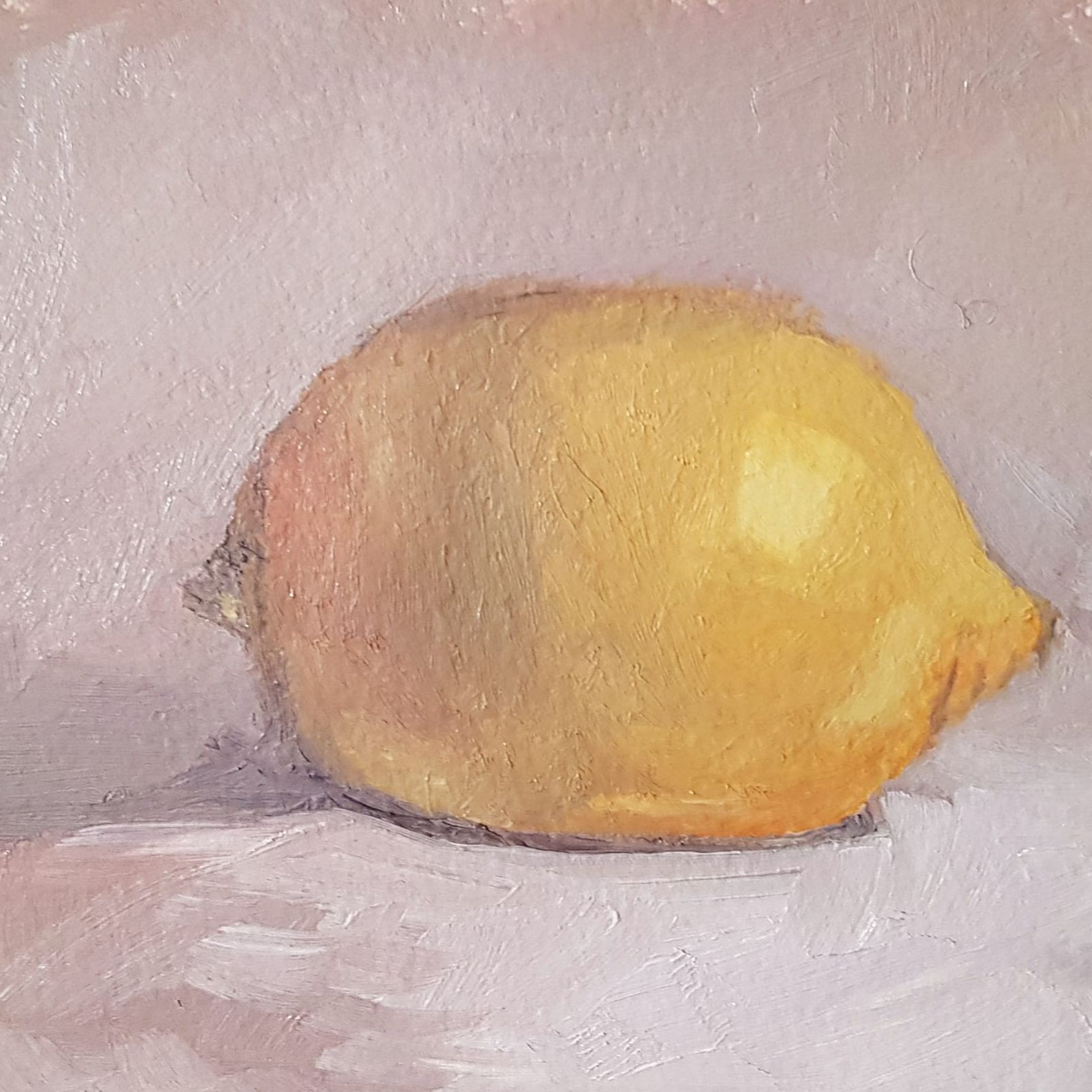 "Tracey Falcon, oil painting - ""Lemon"""