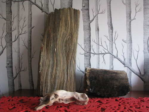 log,pros.openhse jpeg tracey falcon newspaper art burnt recycled environmen