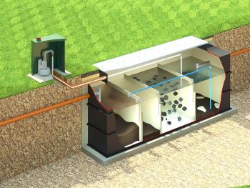 APEX Sewage treatment plant installed_S_Cross Section