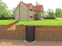 Vortex sewage treatment plant installed for a house