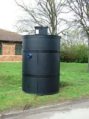 Vortex sewage treatment plant, This is a 6 person model.