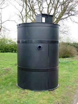 Vortex sewage treament plant front