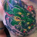 Sacred Ink Oriental  Green Dragon