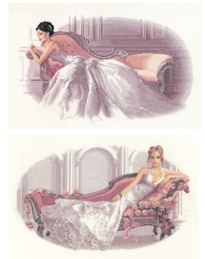 Set of 2 Elegance Cross Stitch - Abbi and Vanessa