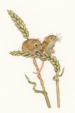 Harvest Mice Cross Stitch