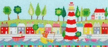 Funky Lighthouse Cross Stitch